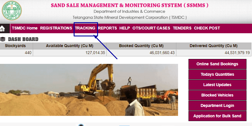 How to track Sand Booking order?