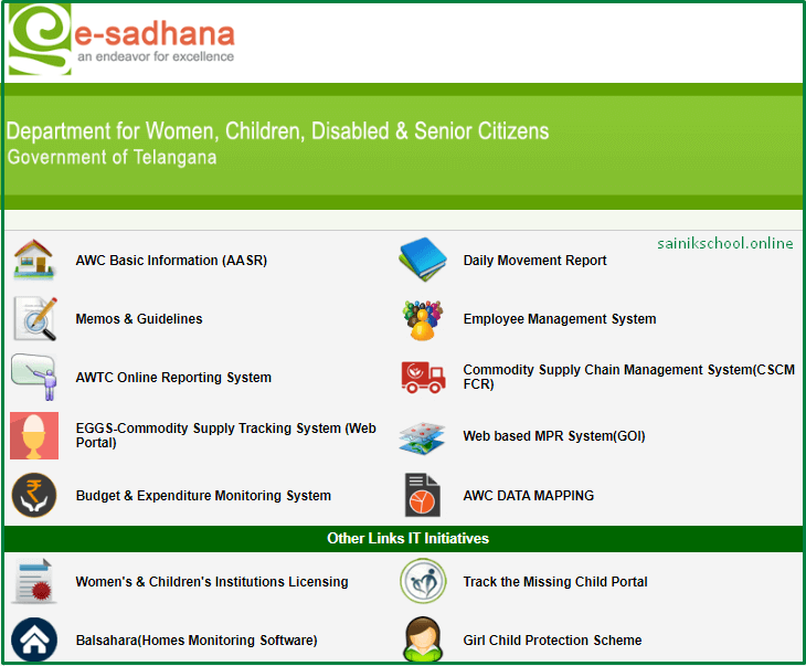 E Sadhana Login Process